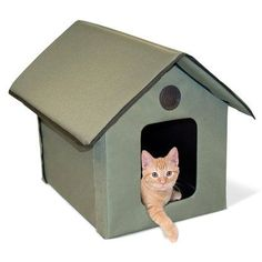 "K&H Pet Products Outdoor Kitty House Beige 22"""" x 18"""" x 17"""""