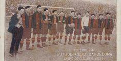 1er EQUIPO DEL FÚTBOL CLUB BARCELONA, CAMPO DE CATALUYA 1923/24.
