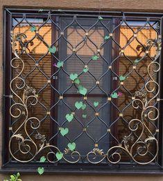 35 Interesting Window Security Bars - Home & Garden: Inspiring Interior, Outdoor and DIY Ideas Iron Window Grill, Window Grill Design, Wooden Door Design, Wooden Doors, Window Security Bars, Window Bars, Pooja Room Door Design, Iron Windows, Partition Design