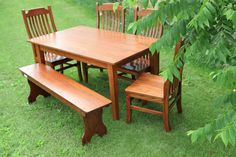 Handcrafted Shaker Farm Table // Peaceful Valley Furniture #amishmade