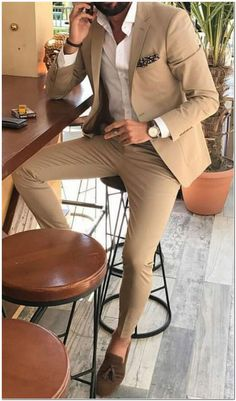 The upside to ideas fitness fashion menswear the hidden facts on ideas fitness fashion menswear ensure you to try your suit and continue around a bit wedding suits men blue summer menswear 15 ideas for 2019 Mens Casual Suits, Dress Suits For Men, Stylish Mens Outfits, Beige Suits For Men, Suit For Men, Mens Suits, Blazer Outfits Men, Mens Fashion Blazer, Suit Fashion