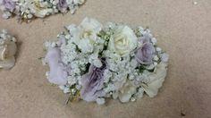 Lavender and cream Wedding Corsages, Lavender, Weddings, Cream, Vegetables, Creme Caramel, Wedding, Vegetable Recipes, Marriage