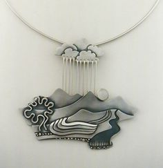"""Peruvian Rainstorm"" Sterling silver by Ahlene Welsh"