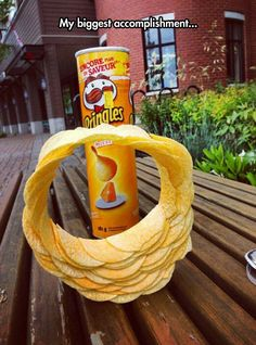 Pringles stack ring  // funny pictures - funny photos - funny images - funny pics - funny quotes - #lol #humor #funnypictures