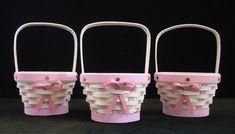 2018 Micro Mini Breast Cancer Awareness Basket!  $25.00 Breast Cancer Awareness, Baskets, Miniatures, Heart, Crafts, Basket, Crafting, Handmade Crafts, Mockup