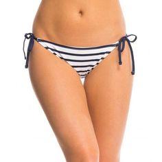 9ec0a42426889 Tommy Bahama Swim Mare Stripe Tie Side String Bikini Bottom Mare Navy