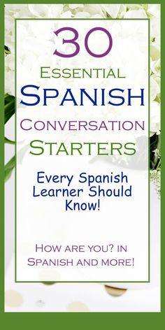 Learn these easy and useful Spanish phrases to strike a conversation with a native Spanish speaker at any social event. Sometimes speaking Spanish is easier once you start speaking. Practice these conversation dialogues and become conversationally fluent Learn Spanish Free, Learn To Speak Spanish, Learn Spanish Online, Study Spanish, Spanish Vocabulary, Spanish Language Learning, Learn A New Language, Teaching Spanish, Foreign Language