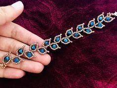Making bracelets with beads - Leafy Vine Beaded Bracelet – Making bracelets with beads Making Bracelets With Beads, Bracelet Making, Gold Bracelets, Pearl Bracelet, Colorful Bracelets, Rosary Bracelet, Beads Making, Pearl Necklace, Chain Bracelets