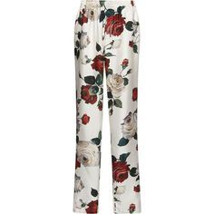 Dolce & Gabbana Floral Trousers (€1.120) ❤ liked on Polyvore featuring pants and floral