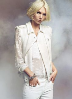 Aline Weber in the Tweed Moto and Embroidered Lace in the Rebecca Taylor S/S 13 Campaign  www.rebeccataylor.com