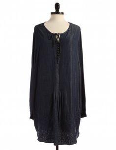 Blue Shift Dress by Coldwater Creek - Size 2X - $38.95 on LikeTwice.com