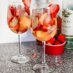 Peach Strawberry Sangria