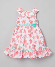 Look at this #zulilyfind! White & Pink Floral Dress - Toddler & Girls #zulilyfinds