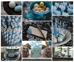 Owl-theme.  Especially love the little eggs!