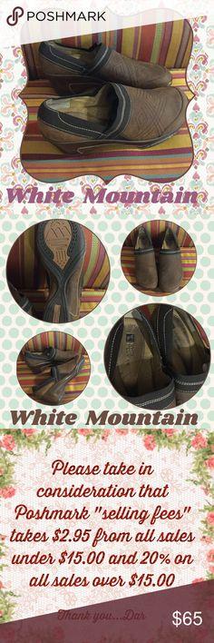 Leather Mules..NWOT White Mountain brushed leather mules...size 8.5...NWOT White Mountain Shoes Mules & Clogs