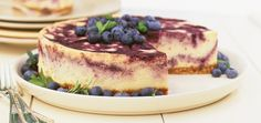 Blueberry Marbled Cheesecake