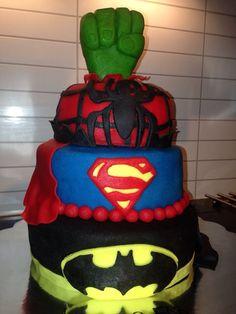 Super hero cake. B-day boy 5years old. Chocolate cake