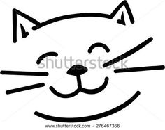Find Cartoon Cat Face stock images in HD and millions of other royalty-free stock photos, illustrations and vectors in the Shutterstock collection. Cartoon Drawings Of Animals, Cartoon Girl Drawing, Grumpy Cat Disney, Cat Face Drawing, Cat Outline, Cat Template, Face Images, Images Photos, Simple Cartoon