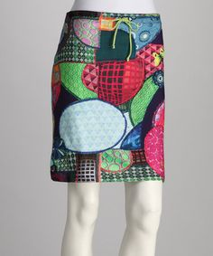 Take a look at this Fuchsia Fantasia Skirt by Desigual Women on #zulily today! :( All gone. but so original.