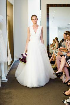 Photography: http://www.stylemepretty.com/portfolio/betsi-ewing-studio | Read More: https://www.stylemepretty.com/2014/09/02/behind-the-scenes-bridal-fashion-with-carolina-herrera/