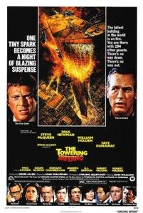 The Towering Inferno. The Towering Inferno is a 1974 disaster movie directed by John Guillermin and starred by Paul Newman, Steve McQueen, and William Holden. Classic Movie Posters, Original Movie Posters, Movie Poster Art, Classic Movies, Original Song, Fred Astaire, Steve Mcqueen, Faye Dunaway, 1970s Movies