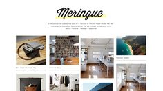 nice Minimal Meringue Tumblr Theme