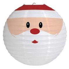 Creative Converting Santa Face Round Paper Lantern Hanging Decoration: Christmas Gifts