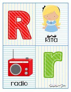 Tarjetas de abecedario para aprender las letras Learning Numbers Preschool, Kids Learning, Alphabet Letters Images, Abc Poster, School Labels, Pre Kindergarten, Science For Kids, How To Do Yoga, Kids And Parenting