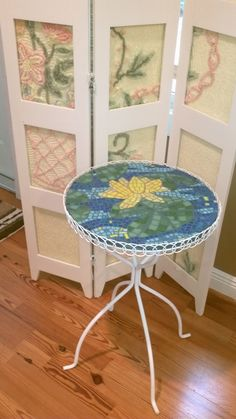 Small mosaic top table