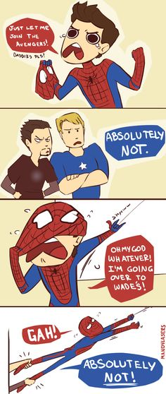Superfamily... Deadpool is the crazy uncle nobody wants around their kids, lol