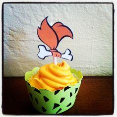 Pebbles Flintstone Cupcake Topper by LollipopParty on Etsy