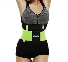 Black Workout Running Steel Boned Corset Lingerie Waist Trainer Cincher Body Shapewear Plus SizeBlackXL(Fit Waist 31″34″)  Gititlys Women's Sport Latex Steel Boned 3Hooks Workout Waist Cincher.     Color:Black,Blue,Purple,Rose,  10 Sizes:XS, S, M, L, XL, 2XL,3XL, 4XL, 5XL, 6XL  High quality material:100% Natural Latex rubber covering;96% Cotton+4% Spandex Lining  Front and Linning Cotton, Middle Latex  9 spiral felixboning supports,flexible and durable,bend easily but recover quickly..
