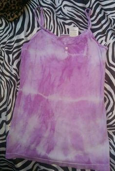 SUMMER FASH TRENDS Spring Beach Hippie Tie Dye Purple Tank Top Slim Shirt S #nobo #TankCami
