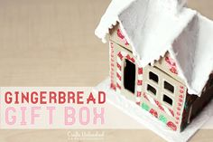 Gingerbread House Gift Box - such a cute and fun personal gift. Creative and fun to make and delightful to receive.