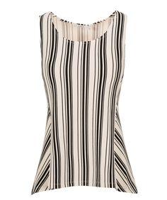 Black Stripe PeplumBlack Stripe Peplum, Black/White Print