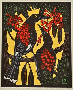 Leslie van der Sluys, Currawongs and Illawara Flame-Trees