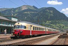 High quality photograph of SBB Historic RAe TEE II # 1053 at Airolo, Switzerland. Swiss Railways, Switzerland, Transportation, The Unit, Europe, Posters, Vehicles, Photos, Trains