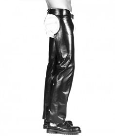 Piquant Detail Leather Chaps #leatherbaba #leatherchaps #chaps, #leathermotorcyclechaps, #Chaps for men