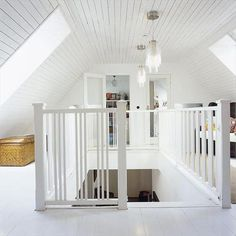 another attic idea love love love it!! @Andrea / FICTILIS Crowley-Saylor & stair rails attic - Google Search | Attic Bedroom YES ...