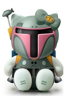 Hello Kitty Boba Fett Star Wars