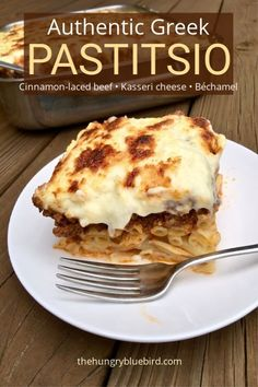 Authentic Pastitsio Authentic Pastitsio or Greek lasagna layers of pasta cinnamon-laced beef Kasseri cheese and béchamel. Greek Pastichio Recipe, Greek Pastitsio, Greek Appetizers, Greek Desserts, Greek Lasagna, Greek Cooking, Greek Dishes, Mediterranean Dishes, Gourmet