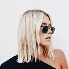 """shoulder length blonde bob"""