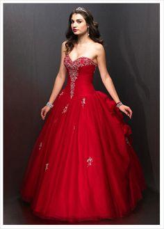 vestido vermelho incrível estilo princesa