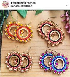 Bead Earrings, Crochet Earrings, Bead Jewellery, Brick Stitch, Beading, Jewels, Diy Kid Jewelry, Ear Rings, Unique Necklaces