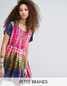 Buy it now. Glamorous Petite Oversized T-Shirt Dress In Tie-Dye Print - Multi. Dress by Glamorous Petite, Lightweight woven fabric, Tie-dye print, Scoop neckline, Regular fit - true to size, Hand wash, 100% Viscose, Our model wears a UK 8/EU 36/US 4. ABOUT GLAMOROUS PETITE Glamorous pulls together an eclectic mix of vintage influences and brand new trends. Glamorous Petite brings us the same fashion-led pieces as their mainline collection � cool knitwear, day-to-night cami dresses and crop…