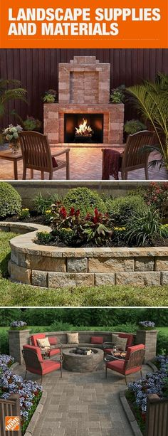 With a variety of styles to choose from and multiple configuration options, these blocks and pavers allow you to get creative and build the backyard of your dreams. Explore the Rumblestone collection and the Rockwall collection to discover what works for Backyard Patio Designs, Backyard Projects, Backyard Landscaping, Patio Ideas, Landscaping Ideas, Backyard Ideas, Sloped Backyard, Diy Projects, Landscape Design