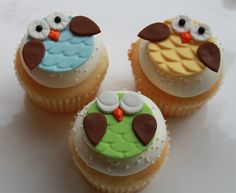 owl cupcakes for baby shower.