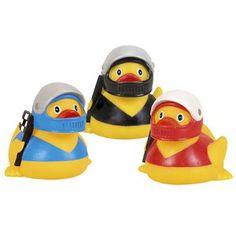Rubber duckies with raceway helmets