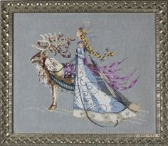 """The Snow Queen"" Cross Stitch Chart + mill hill beads & Kreinik Mirabilia Design Stitch And Angel, Cross Stitch Angels, Counted Cross Stitch Patterns, Cross Stitch Charts, Cross Stitch Designs, Cross Stitch Embroidery, Embroidery Patterns, Cross Stitching, Mill Hill Beads"