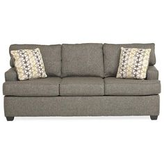 Cruze Sofa ❤ liked on Polyvore featuring home, furniture, sofas, charcoal couch, upholstered couch, dark grey couch, upholstered furniture and upholstered sofa